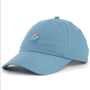 Pink Dolphin Micro Waves Snapback in Cobalt Blue